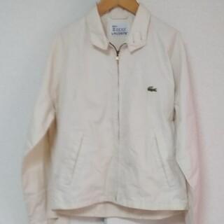 ラコステ(LACOSTE)のアイゾット·LACOSTE スイングトップジャケット 白 L(ブルゾン)