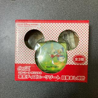 ディズニー(Disney)の新品未使用 ディズニー ミッキー 目覚まし時計 クリア 可愛い キッズ ドナルド(置時計)