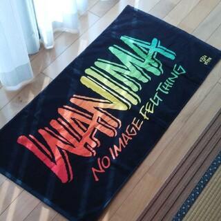 ワニマ(WANIMA)の☆ WANIMA ビーチタオル バスタオル ピザロゴあり 美品 ☆(ミュージシャン)