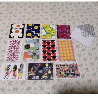 マリメッコ(marimekko)の新品!マリメッコ メッセージカード/4枚 ポストカード/7枚 セット⑤(カード/レター/ラッピング)