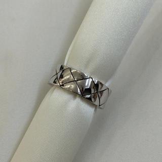 シャネル(CHANEL)の正規店購入❤️超美品❤️シャネル マトラッセリング❤️K18ホワイトゴールド(リング(指輪))