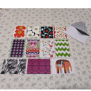 マリメッコ(marimekko)の新品!マリメッコ メッセージカード/4枚 ポストカード/7枚 セット⑧(カード/レター/ラッピング)