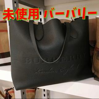 BURBERRY - バーバリー 本革 レザートートバッグ 黒