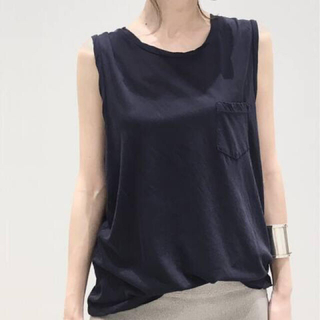 L'Appartement DEUXIEME CLASSE -  L'Appartement JAMES PERSE Tank Top ネイビー