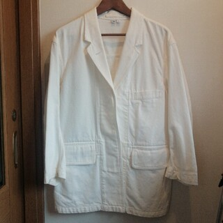 ユニクロ(UNIQLO)の【未使用】【white】カバージャケット ユニクロU(Gジャン/デニムジャケット)