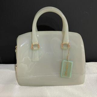 フルラ(Furla)の美品フルラFURLAハンドキャンディーバッグレディース白コンパクト旅行トラベル(ハンドバッグ)