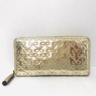 アニヤハインドマーチ(ANYA HINDMARCH)のアニヤハインドマーチ - ゴールド レザー(財布)