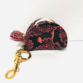 アニヤハインドマーチ(ANYA HINDMARCH)のアニヤハインドマーチ - ピンク×黒 レザー(コインケース)