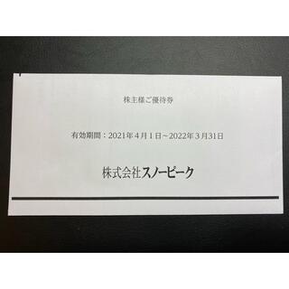 スノーピーク(Snow Peak)のスノーピーク株主優待券 1枚(その他)