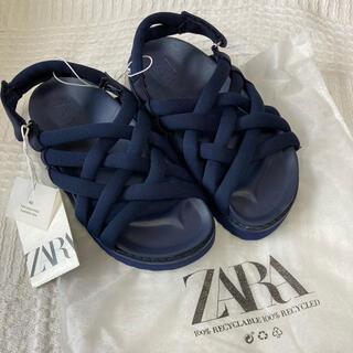 ザラ(ZARA)のZARA キッズサンダル 新品未使用 19〜19.5(サンダル)