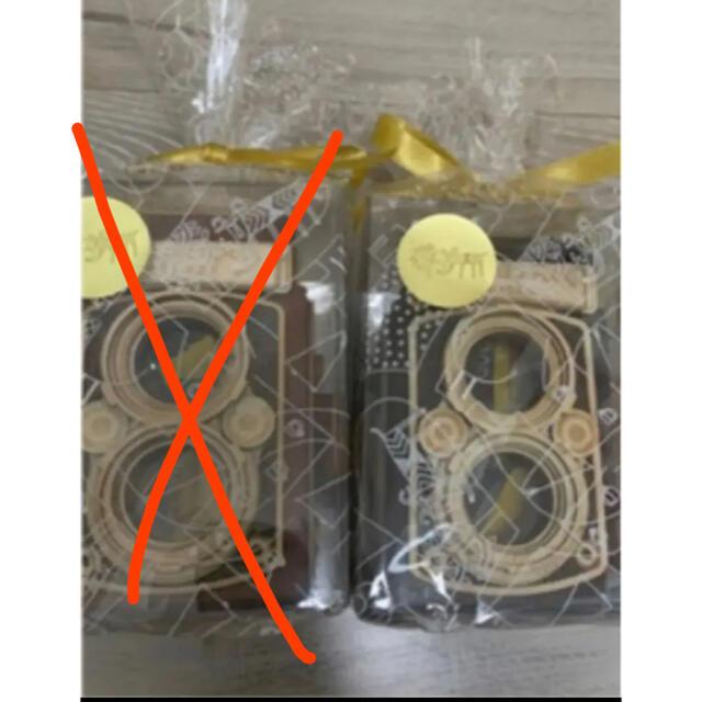 KALDI(カルディ)の匿名配送 新品未開封 カルディ レフレックスカメラ 黒色 木箱  食品/飲料/酒の健康食品(その他)の商品写真