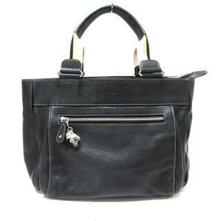 フルラ(Furla)のフルラ美品  黒×ベージュ×マルチ レザー(ハンドバッグ)