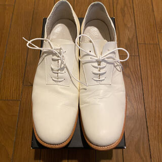 ISAMUKATAYAMA BACKLASH - バックラッシュ 箱付き 26.5 ホワイト イタリーキップ 革靴 レザーシューズ