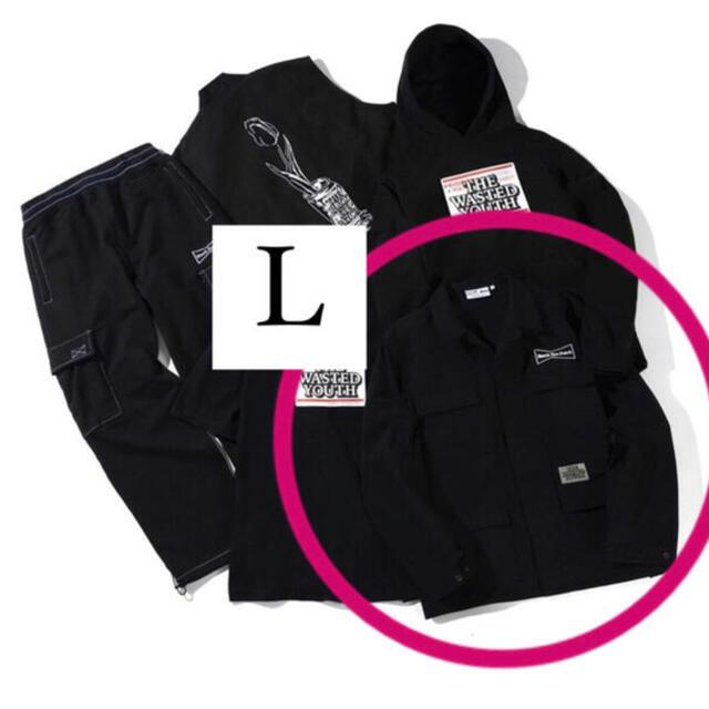 GDC(ジーディーシー)のBLACK EYE PATCH WASTED YOUTH ワークジャケット L メンズのジャケット/アウター(ブルゾン)の商品写真