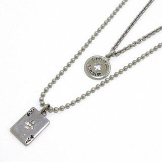 モスキーノ(MOSCHINO)のモスキーノ - 金属素材×ラインストーン(ネックレス)