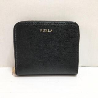 フルラ(Furla)のフルラ美品  - 黒 ラウンドファスナー(財布)