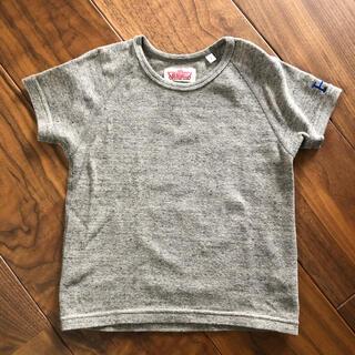 ハリウッドランチマーケット(HOLLYWOOD RANCH MARKET)の美品ハリウッドランチマーケット2茶8090100ロゴ半袖カットソーTシャツ(Tシャツ/カットソー)