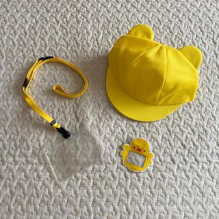 カラー帽子 ひよこ くま耳 帽子 バッジ 名札 プレセット