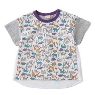petit main - プティマイン 動物総柄 Tシャツ80