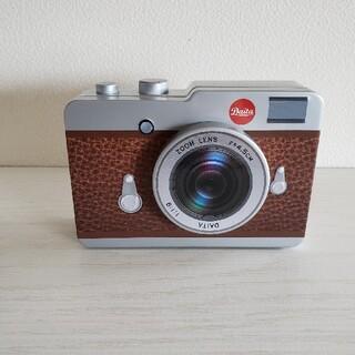 KALDI 購入カメラ缶 茶色 (小物入れ)