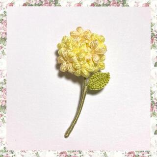 フラワーブローチ*一輪の花〜イエローmix(コサージュ/ブローチ)