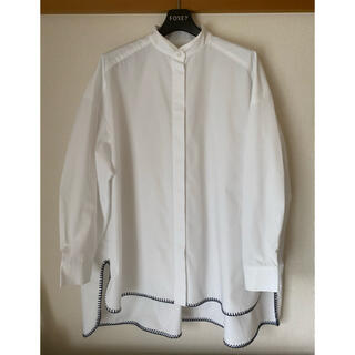 Drawer - 20SS  yori  ブランケットステッチシャツ 白