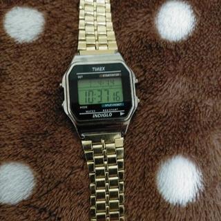 タイメックス(TIMEX)のTIMEX  メンズ レディース ゴールド T78677 デジタル (腕時計(デジタル))