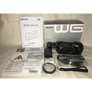 RICOH - ◆◇◆ RICOH 防水デジタルカメラ WG-50 ブラック(中古)◆◇◆