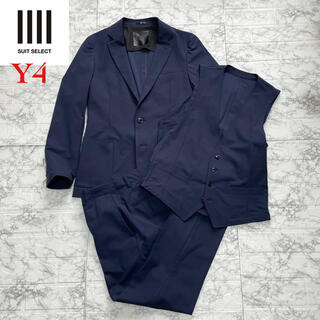 nano・universe - 美品◆スーツセレクト ストレッチ スリーピース スーツ / navy Y4 S