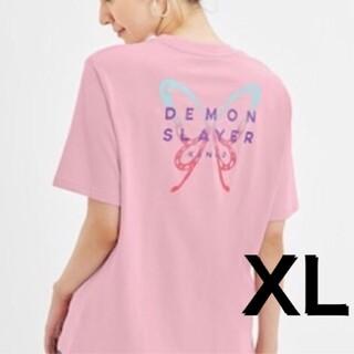 ジーユー(GU)の鬼滅の刃 GU カナヲ Tシャツ XL  胡蝶しのぶ(キャラクターグッズ)