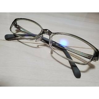 ジンズ(JINS)のJINS PC ブルーライトカット眼鏡 グレー(サングラス/メガネ)