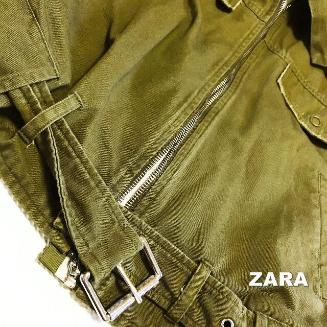 ZARA(ザラ)の【ZARA】ザラ ライダース ミリタリージャケット 春物 レディースのジャケット/アウター(ライダースジャケット)の商品写真