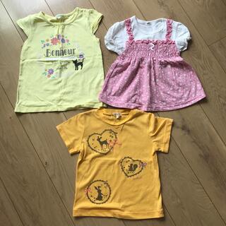 サンカンシオン(3can4on)の3枚セット 110 半袖 女の子(Tシャツ/カットソー)