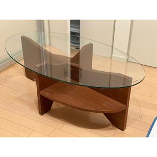 ガラスローテーブル (ローテーブル)