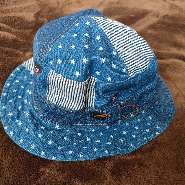 DOUBLE.B(ダブルビー)の【superhiro様専用】ダブルビー デニム帽子 50~52 キッズ/ベビー/マタニティのこども用ファッション小物(帽子)の商品写真