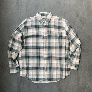 エルエルビーン(L.L.Bean)の古着 ヴィンテージ 90s エルエルビーン チェックシャツ ボタンダウン L(シャツ)