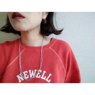 BEAUTY&YOUTH UNITED ARROWS - silver&borderネックレス
