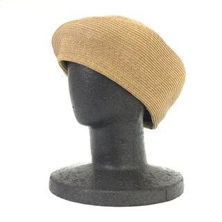 GRACE CONTINENTAL - グレースコンチネンタル 17SS ベレー帽 麦わら 帽子 茶 ブラウン F