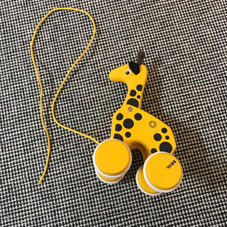 ブリオ(BRIO)のBRIO ブリオ キリンおもちゃ(手押し車/カタカタ)