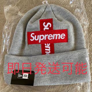 Supreme - 【新品未使用】supreme クロスボックスロゴ beanie グレー