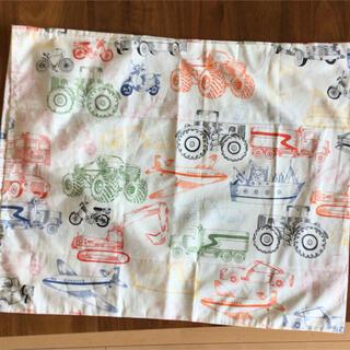 イケア(IKEA)のイケア 乗り物柄・枕カバー・未使用(車、飛行機、船、バイク)(シーツ/カバー)