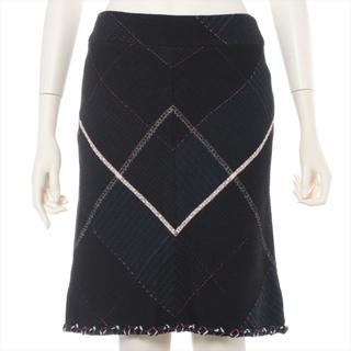 シャネル(CHANEL)のシャネル  ツイード 36 ブラック レディース スカート(その他)