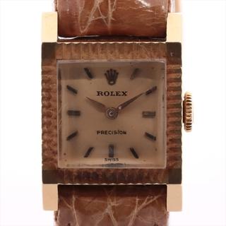 ロレックス(ROLEX)のロレックス プレシジョン 750×社外革   レディース 腕時計(腕時計)