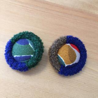 mina perhonen - ミナペルホネン くるみボタン セット ネイビー グリーン系