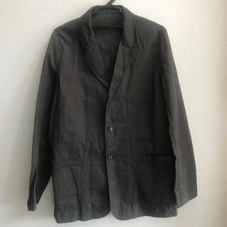 トランスコンチネンツ(TRANS CONTINENTS)の綿70麻30% トランスコンティネンツ ジャケット チャコール グレー(テーラードジャケット)
