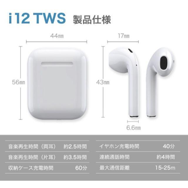 iPhone(アイフォーン)のBluetoothイヤホン スマホ/家電/カメラのオーディオ機器(ヘッドフォン/イヤフォン)の商品写真