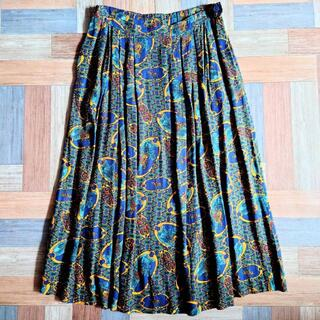 Vintage PENDLETON USA製 レーヨン 総柄 スカート