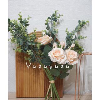 【おまけ付き】花束 造花 母の日 ブーケ  観葉植物 バラ ピンク(その他)