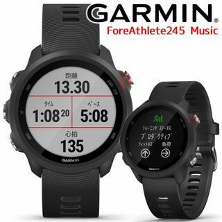 GARMIN - 新品 ガーミン ForeAthlete 245 Music Black Red