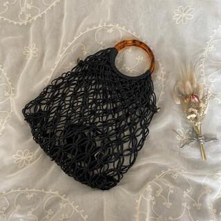 グリモワール(Grimoire)のvintageレトロ古着メッシュ編み込みバッグ(ハンドバッグ)